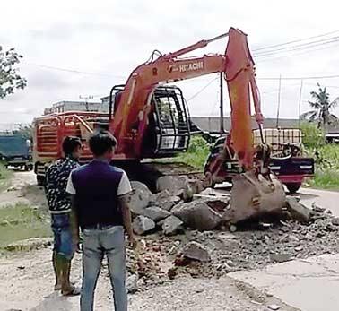 Perbaikan Jalan Purnama Dilanjutkan