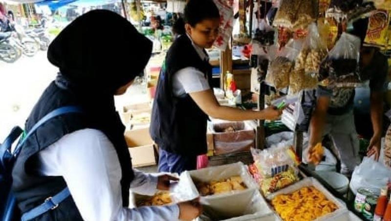 Stok Bahan  dan Harga  Pangan Stabil  Satgas Pangan Polda Riau Sidak Pasar Induk
