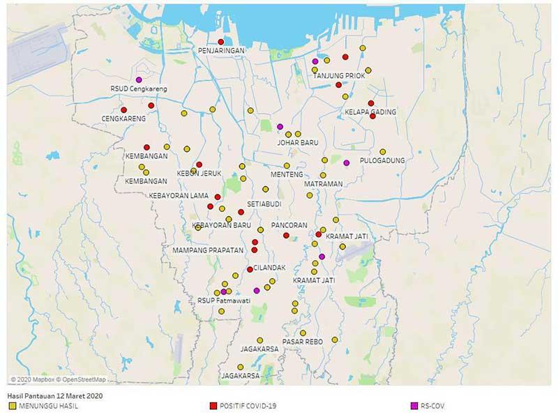 Anies Buka Peta Sebaran COVID-19 di Jakarta