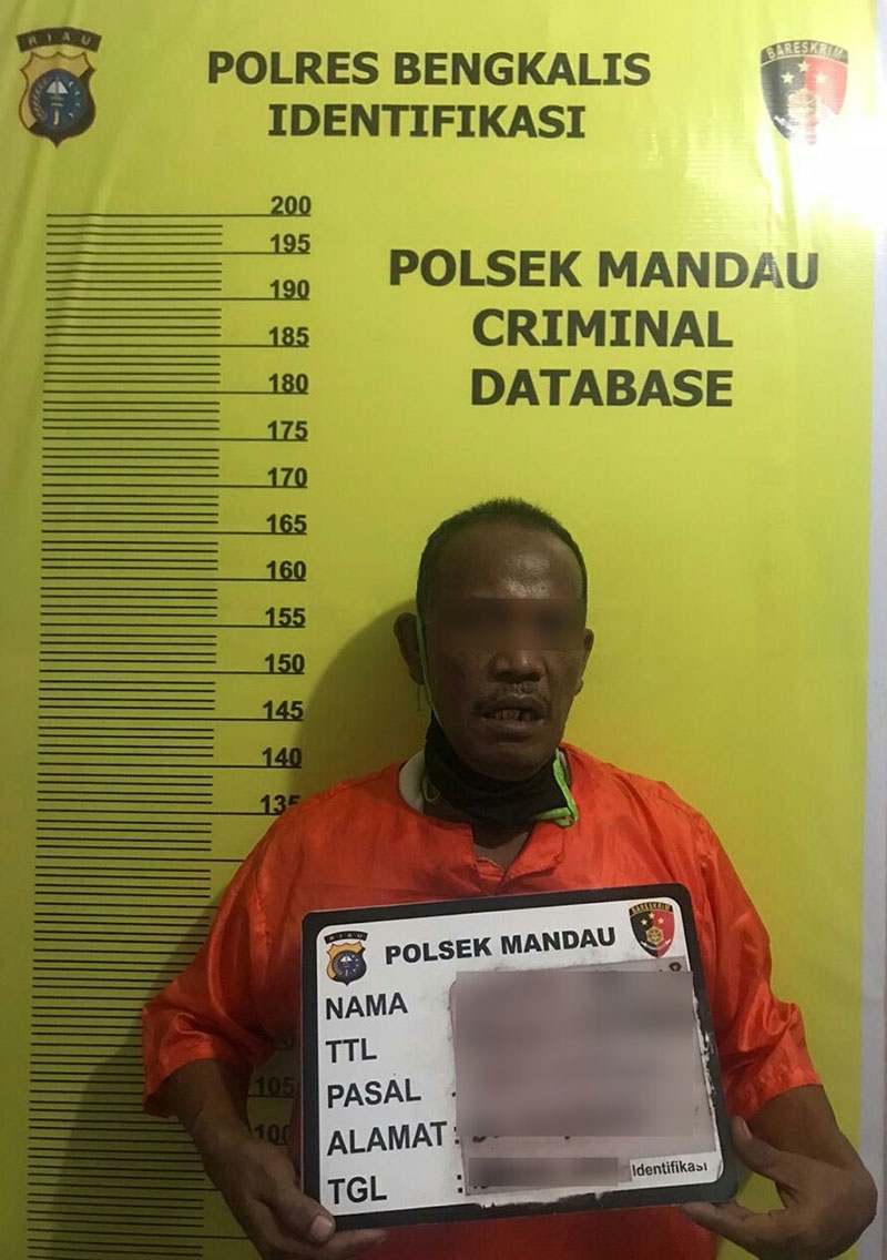 Pencuri 4 Motor Ditangkap Polsek Mandau