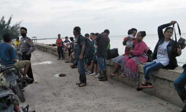 Puluhan TKI dari Malaysia Terdampar di Pulau Rupat