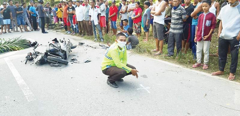 Tabrakan di Jalan Lingkar Duri, Satu Pengendara Tewas di Tempat