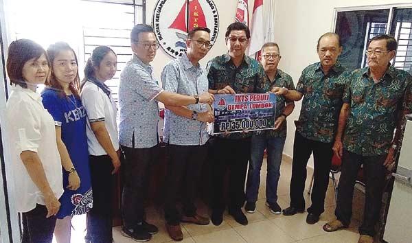 IKTS Pekanbaru Salurkan Bantuan Korban Gempa Lombok