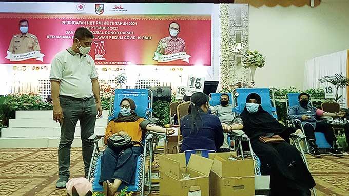 Relawan Peduli Covid-19 Riau Targetkan 3.000 Kantong Darah