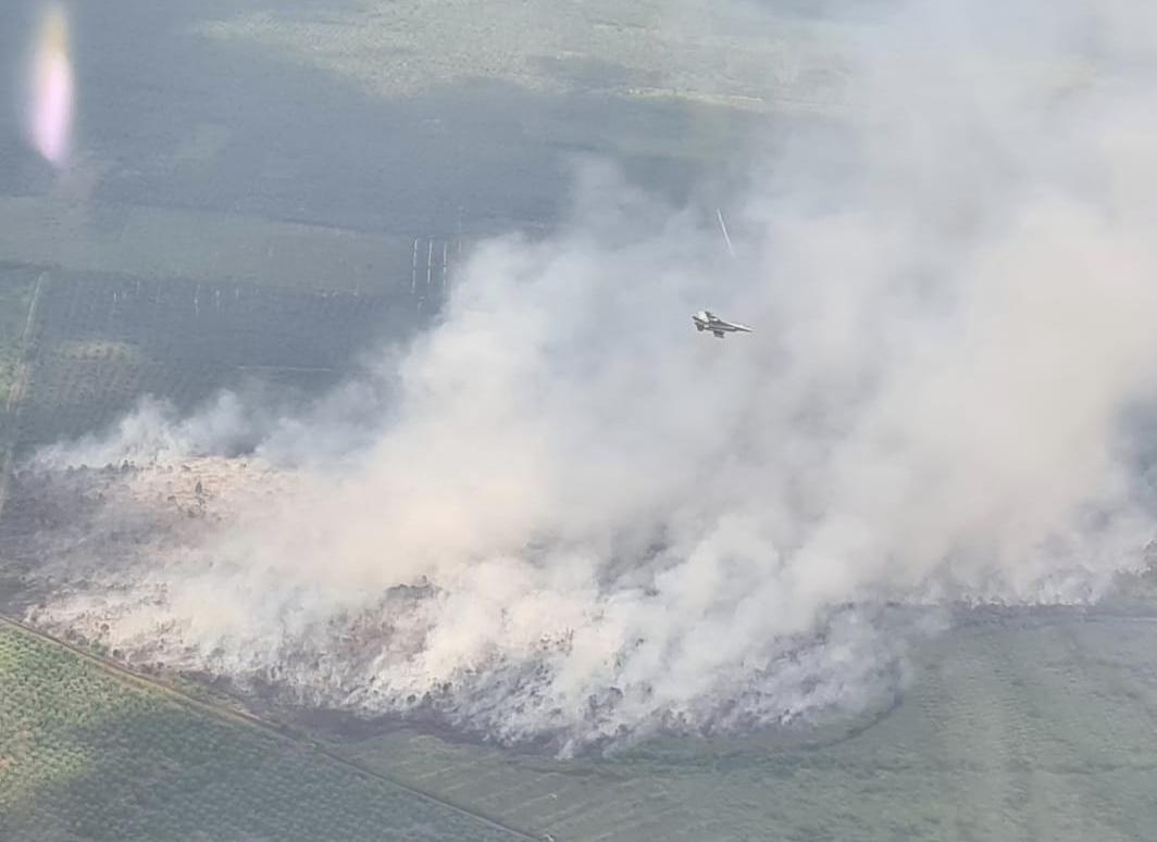 Karhutla di Perbatasan Siak-Bengkalis Terpantau Pesawat F16