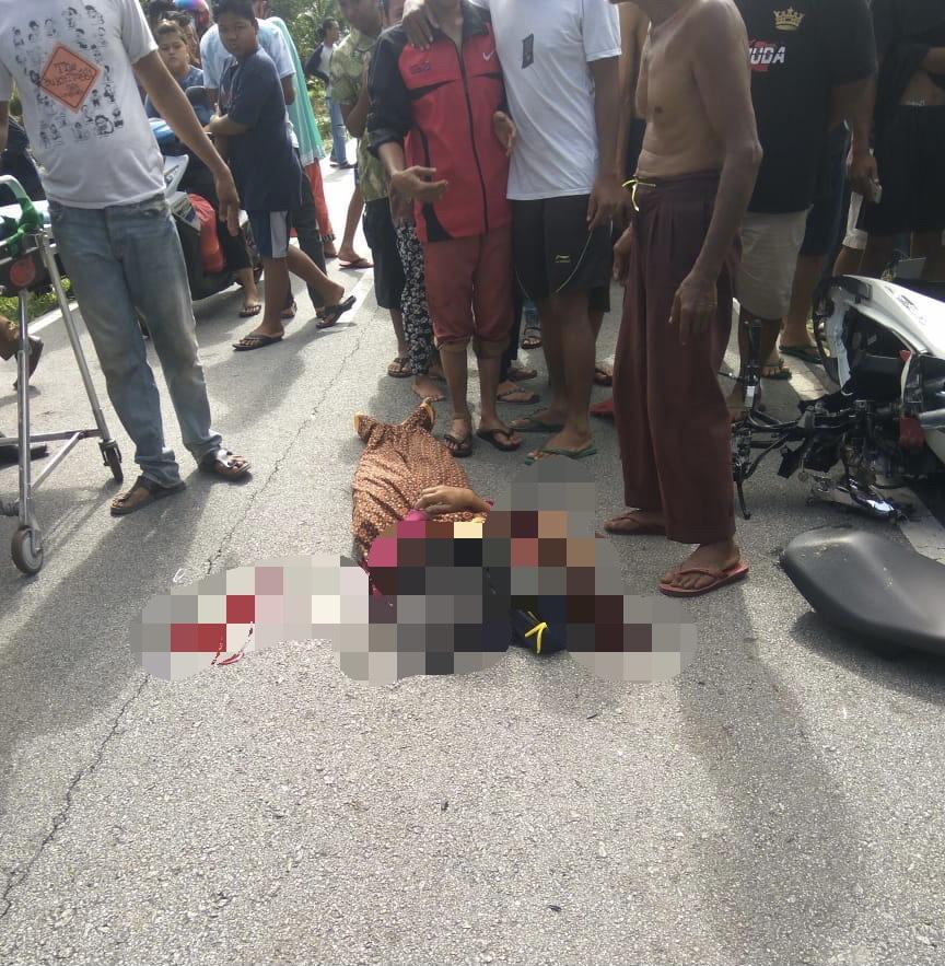 Tragis, Diserunduk Mobil, Pasutri di Bengkalis Tewas di Tempat