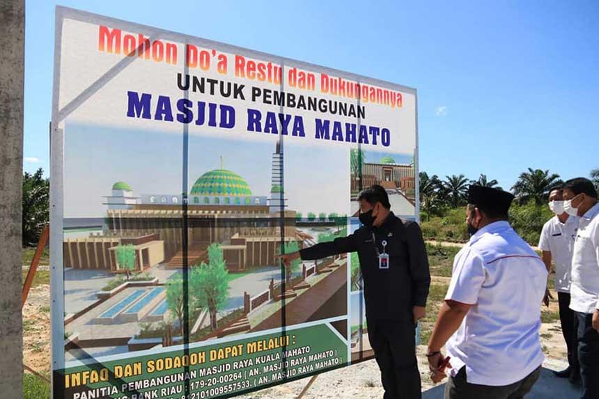 Pembangunan Masjid Kuala Mahato Capai Rp16 M