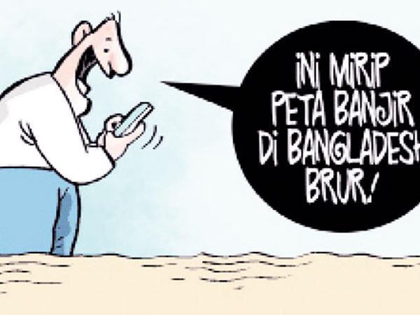 Awas Tertipu Peta Lama Banjir Jakarta