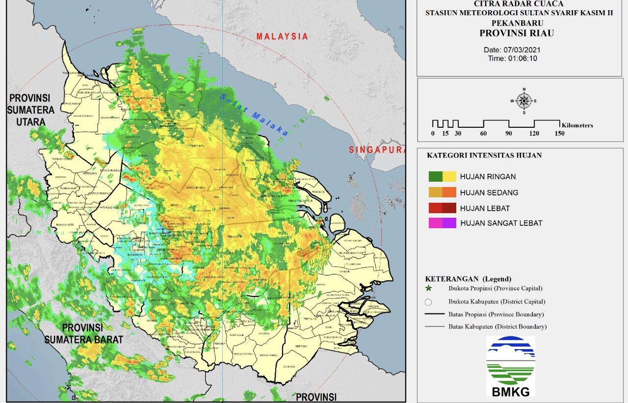 Selain Pekanbaru, Ini Daerah di Riau Diguyur Hujan Ahad Dinihari