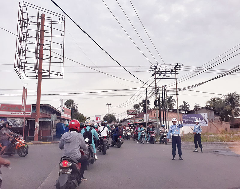TNI AU Turun Tangan Atasi Kemacetan