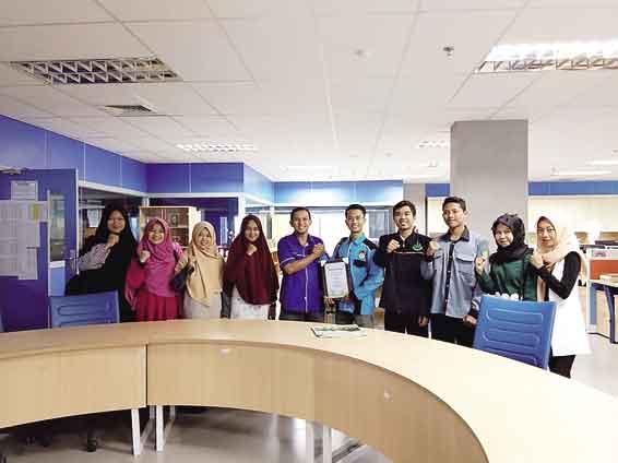 BEM Faperika Unri Belajar ke Riau Pos
