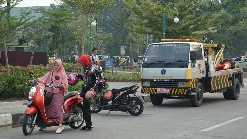 Parkir Liar di Jalan Hang Tuah-Diponegoro Ditertibkan