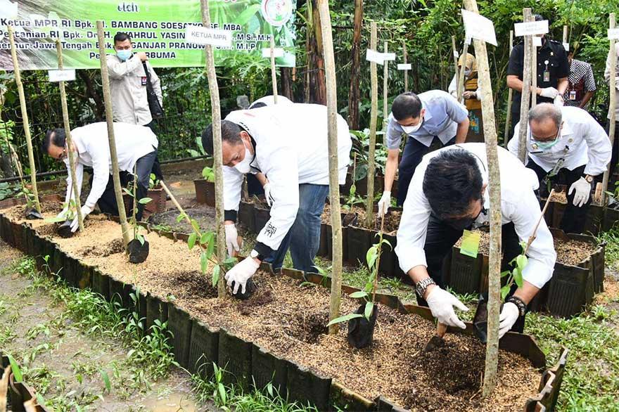 Bamsoet Bersama Menteri Pertanian Bantu Petani Salatiga Bibit Vanili