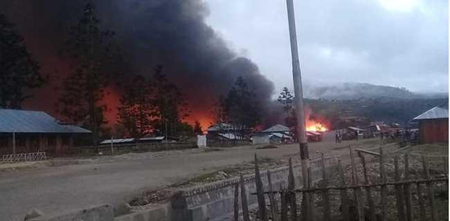 Kerusuhan di Oksibil, Pasar dan Kios Dibakar, 2 Ribu Warga Mengungsi