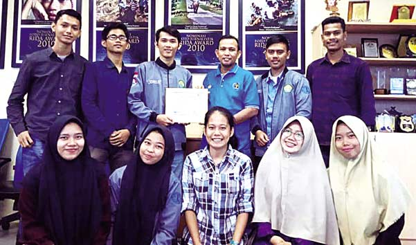 HMJ Faperi Belajar   Jurnalistik ke Riau Pos