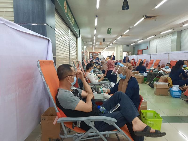 Panitia Bersama Baksos Sembako Imlek Gelar Donor Darah
