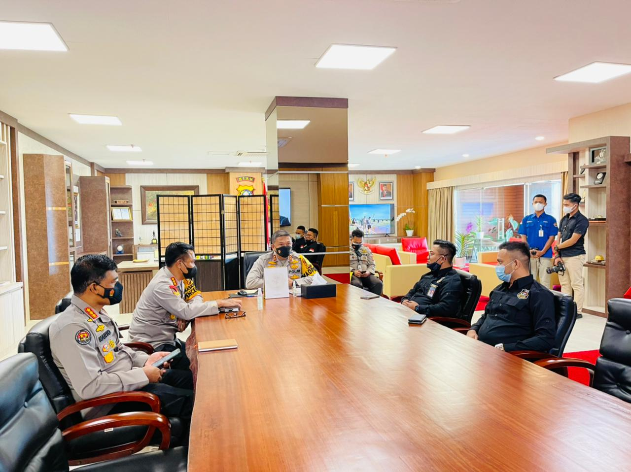 Audiensi, SPI Riau Apresiasi Kapolda Tangani Karhutla dan Narkotika