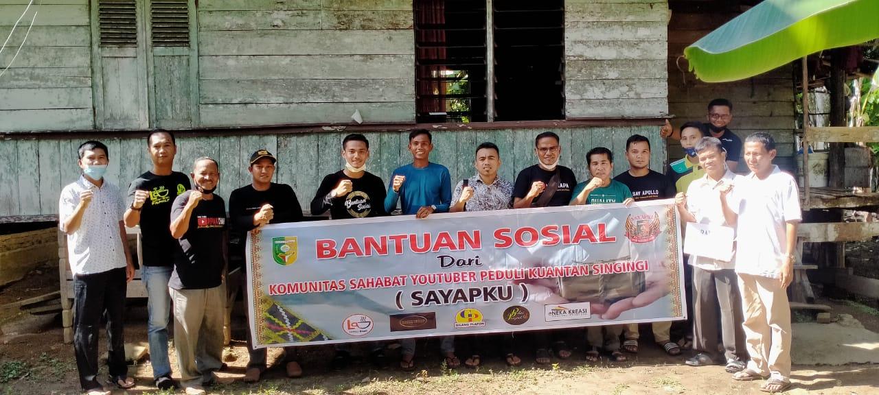 Komunitas Sayapku Salurkan Sembako Bagi Warga Jompo