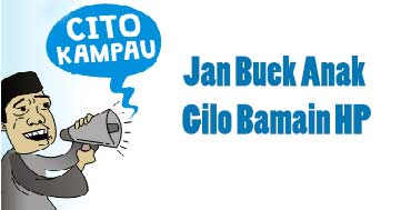 Jan Buek Anak Gilo Bamain HP