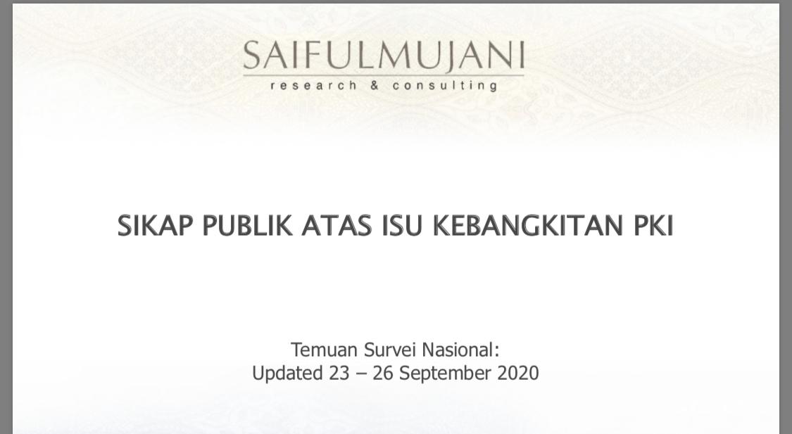 Survei SMRC: 14 Persen Warga Percaya Ada Kebangkitan PKI di Indonesia