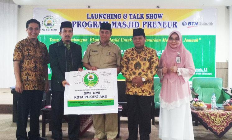 PW DMI Riau Bersama Bank BTN Syariah Launching Program Masjid Preneur