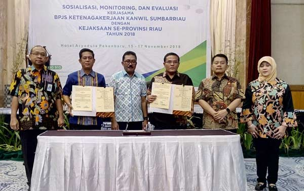 BPJS Ketenagakerjaan Gandeng Kajati Riau Eksekusi Penunggak Iuran