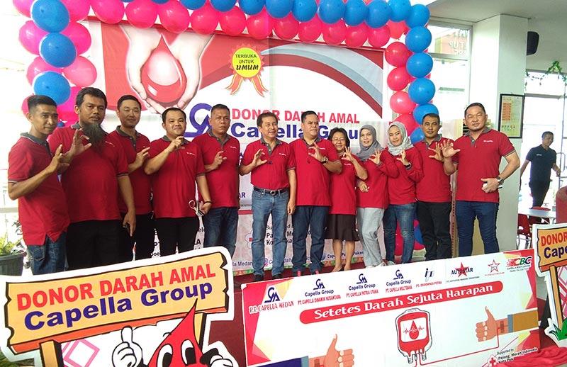 Ratusan Masyarakat Ikuti Donor Darah PT Capella Group