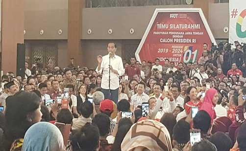 Jokowi Motivasi Peguyuban Pengusaha Jawa Tengah