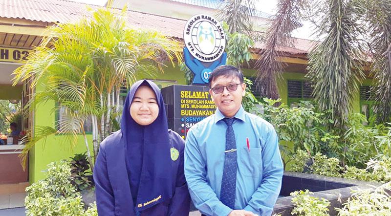 Siswi MTs Muhammadiyah 02 Sabet Juara Satu Terbaik Se-Riau