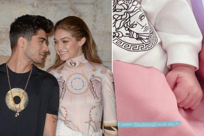 Gigi Hadid Pamerkan Hadiah Selimut Bayi Versace dari Taylor Swift