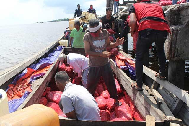 1.155 Karung Bawang Merah Ilegal Diamankan