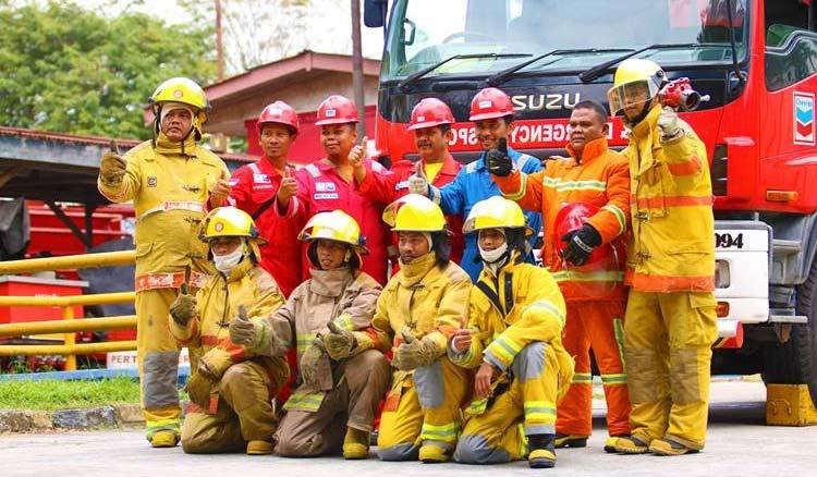 Pahlawan di Lapangan; Tim Damkar PT CPI Siap dan Tanggap saat Darurat