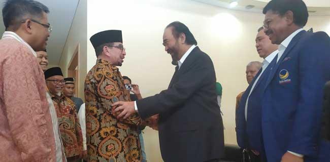Ketemu PKS, Surya Paloh Sindir Mega dan Gertak Jokowi