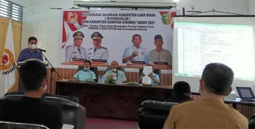 Aklamasi, Andi Cahyadi Pimpin KONI Kuansing 2021-2025