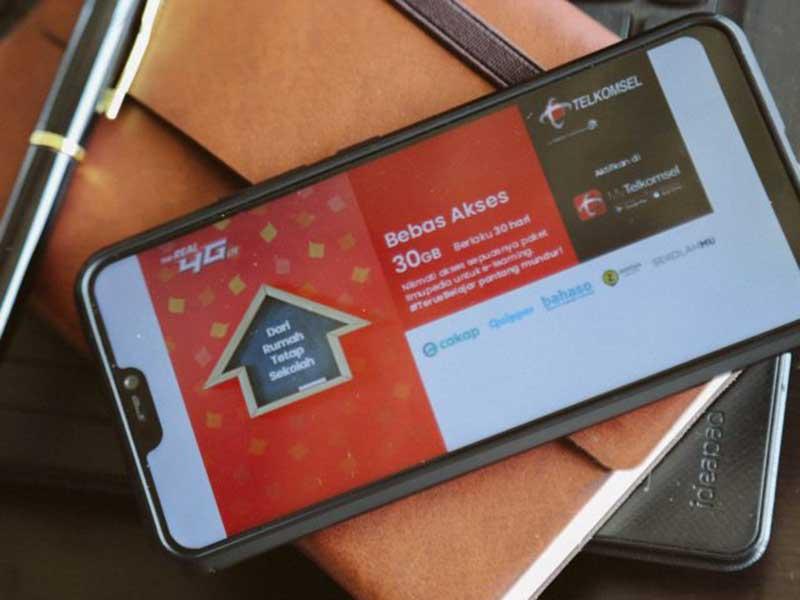 Telkomsel Gratiskan Kuota Belajar Online