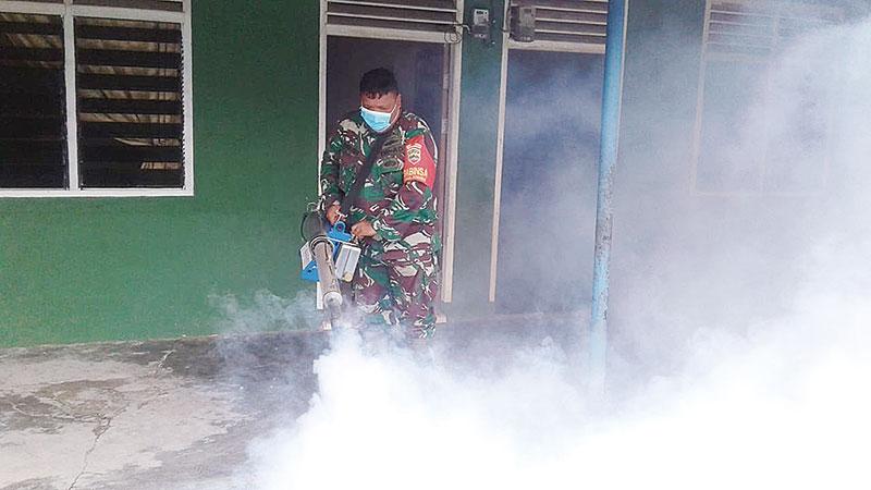DBD, Koramil Mandau Fogging Sebanga