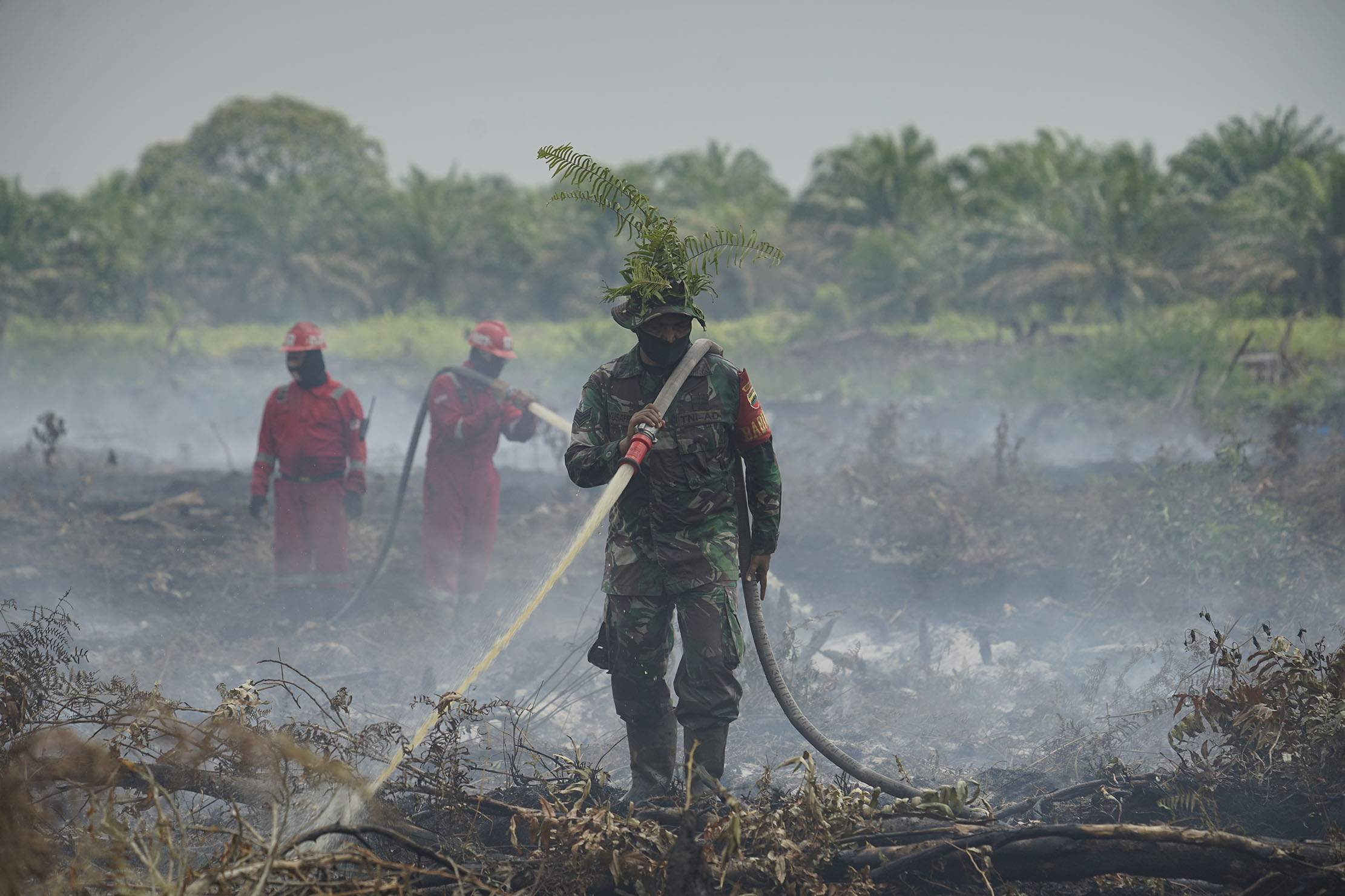 Empat Hari Padamkan Api di Bungaraya