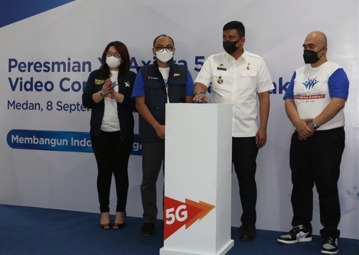 Di Medan, XL Axiata Gelar Sentra Vaksinasi dan Pengenalan Jaringan 5G