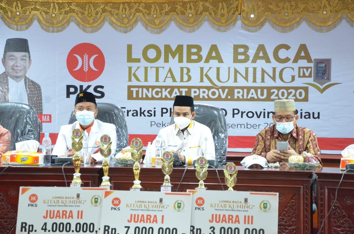 Final Lomba Baca Kitab Kuning Fraksi PKS DPRD Riau Digelar Virtual
