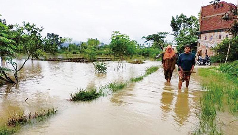 Payakumbuh Banjir, 1 KK Ngungsi, 2 Rumah Terancam Ambruk