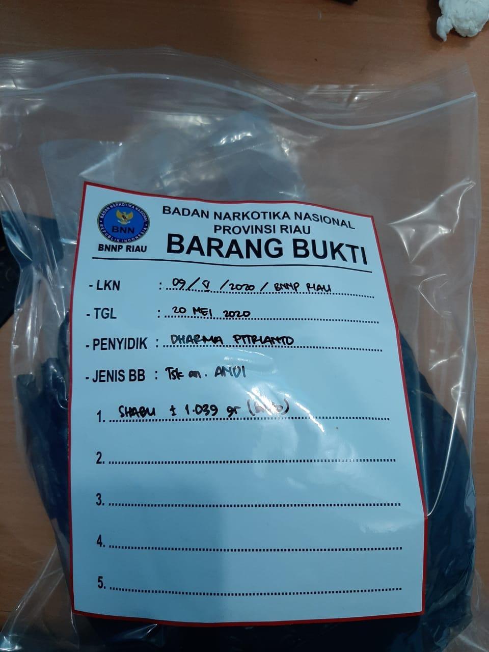 BNNP Riau Tangkap Bandar di Rohil, 1 Kg Sabu Diamankan