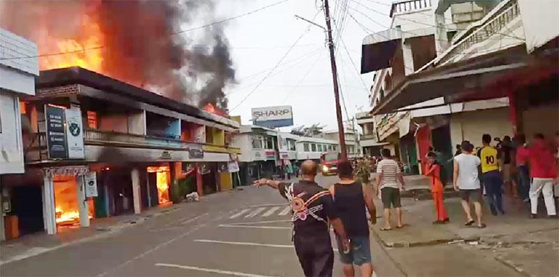 Satu Terpanggang dari Kebakaran Ruko di Pasar Telukkuantan