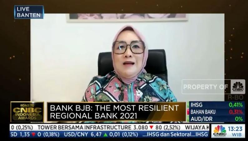 Bank BJB Dapat Penghargaan The Most Resilient Regional Bank 2021