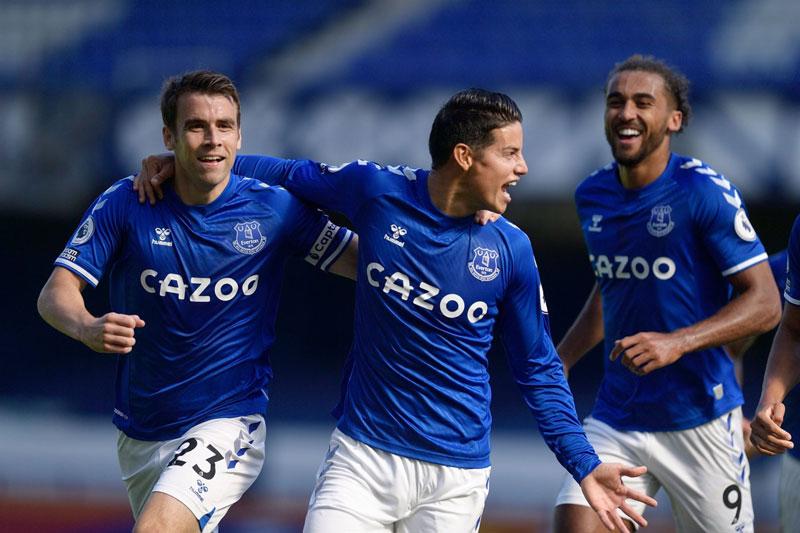 James Cetak Gol saat Everton Hajar West Brom