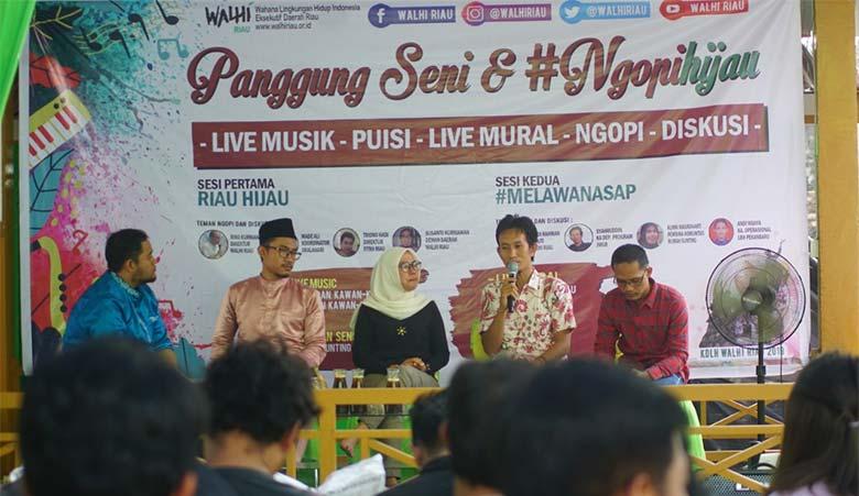 Walhi Riau Gelar Diskusi Melawan Asap