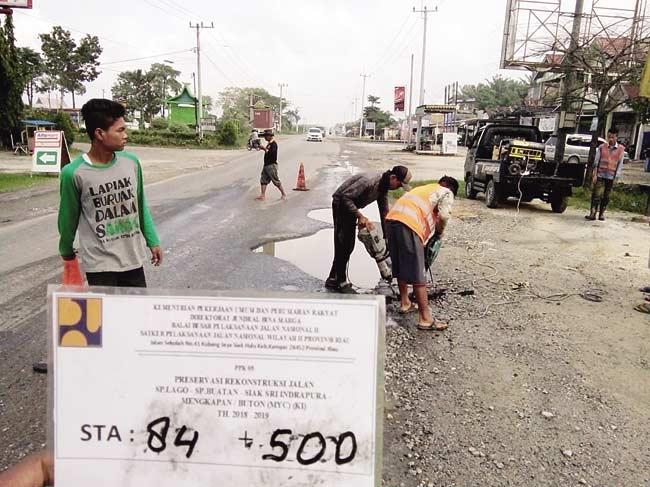 Jalan Siak-Pelalawan Masuk Pekerjaan Infrastruktur KITB Mulai Dibenahi