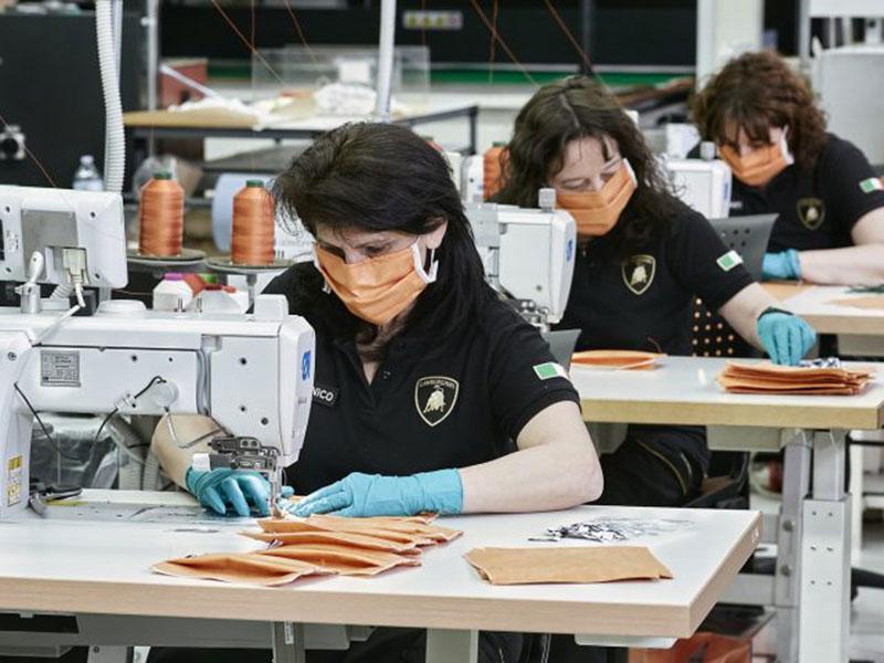 Lamborghini Bantu Produksi Masker