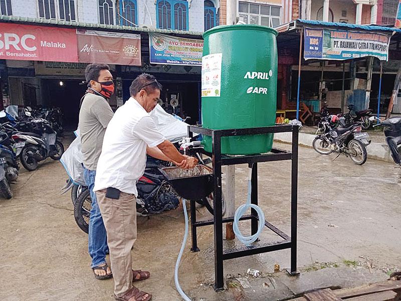 RAPP-APR Sediakan Cuci Tangan Praktis