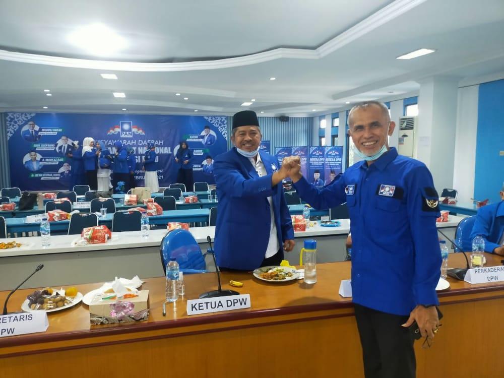 Nofrizal Kembali Pimpin DPD PAN Pekanbaru