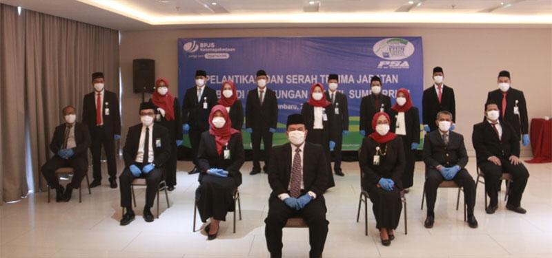 BPJAMSOSTEK Sumbar Riau Kepri Lantik 15 Pejabat